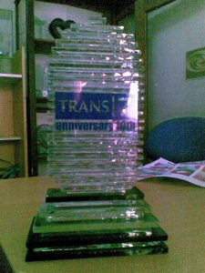 vandel trans 7, kerajinan kaca