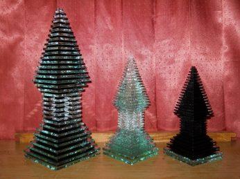 Miniatur candi, Kerajinan Kaca datar, kerajinan kaca bekas, jual kerajinan kaca, kerajinan kaca, https://jualkerajinankaca.wordpress.com/
